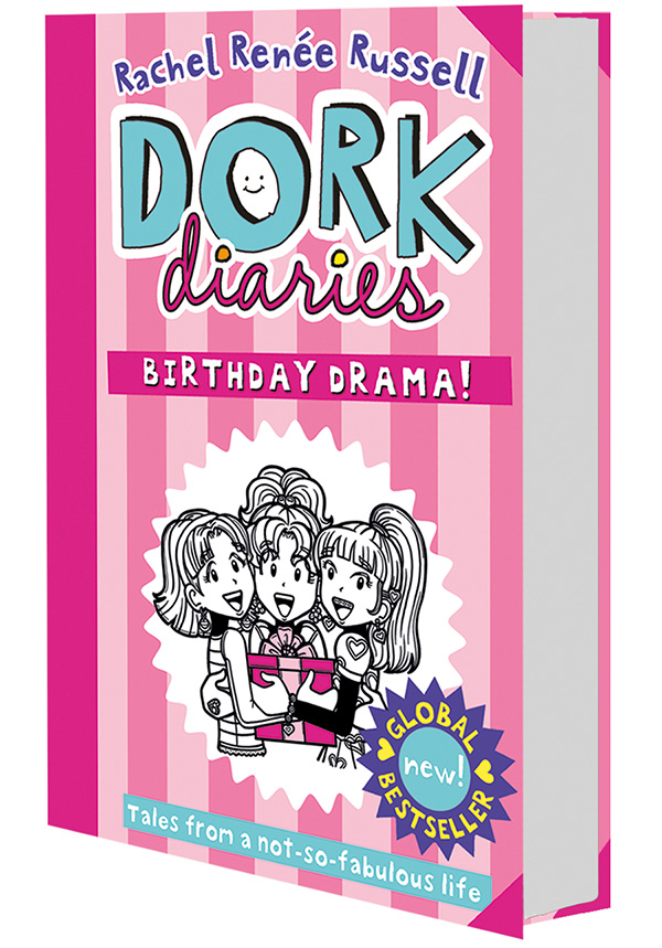 Dork Diaries 13 cover: Birthday Drama